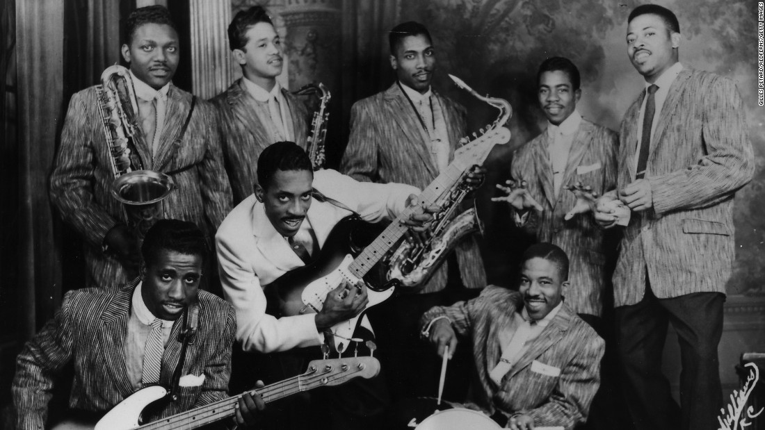 """Rocket 88,"" often credited as the first rock 'n' roll record, was recorded in 1951 by Ike Turner's Kings of Rhythm -- but it was singer Jackie Brenston, top left, who got the credit. The record, which Phillips leased to Chess, sold 100,000 copies, a huge number for an R&B record on an independent label."