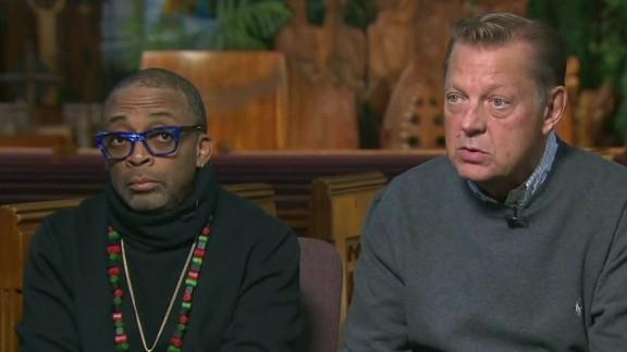 Spike Lee, left, and the Rev. Michael Pfleger have advocated for Chicago.