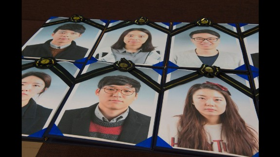 These are funeral portraits of the participants. Huguier said. South Korea has the highest suicide rate among the 34 countries in the Organization for Economic Cooperation and Development.
