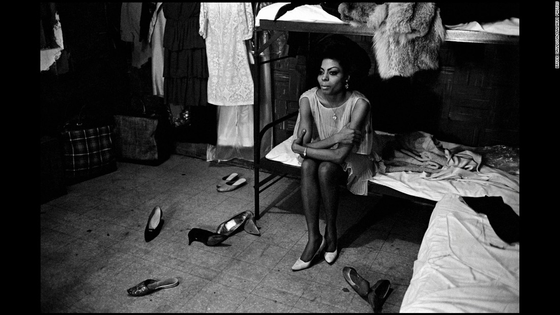 "Ross sits on a bed at the Apollo Theater. The Supremes were the most successful female group of the '60s, achieving worldwide popularity. ""It was a time of Black Power,"" Davidson said, referring to how the group formed at the height of the civil rights movement. ""I was lucky to be accepted in a certain way. But also aware that there was something going on in the air."""