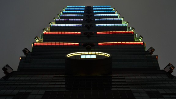 The Taipei 101 building in Taiwan is illuminated blue, white and red. Have you seen other world landmarks lit up in tribute to France? Share your photos with CNN by tagging #CNNiReport on social networks.