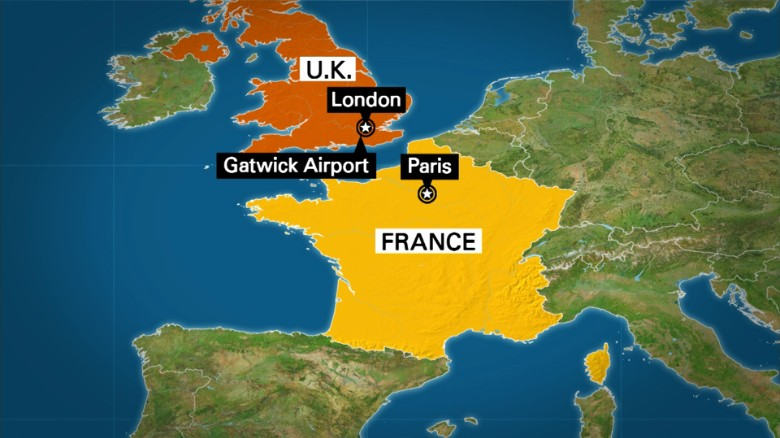 Frenchman arrested on suspicion of firearms offenses at Gatwick Airport