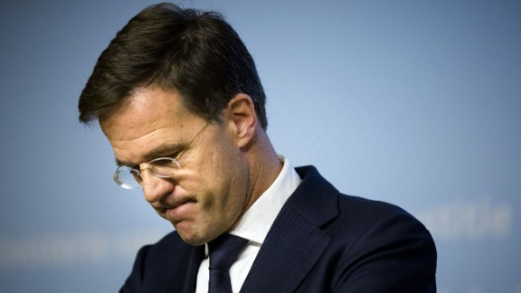 Dutch Prime Minister Mark Rutte after a speech on November 14 in The Hague following the attacks.