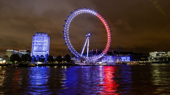 The London Eye reflects onto the River Thames on November 14.