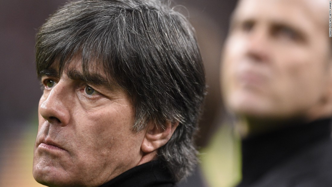 Germany coach Joachim Loew said his team had been unsettled before the match against France after a bomb threat to its hotel in Paris. The team spent the night at the Stade de France as a security precaution after the attacks.