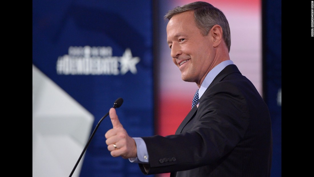O'Malley give the thumbs up after the debate.
