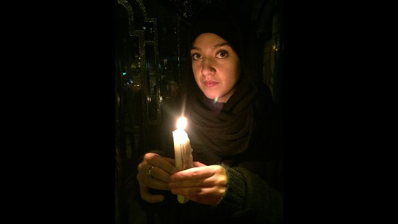 """""""I came here to pay my respects to the people who we lost. Today was very hard,"""" said 20-year-old Crenn. """"I felt like everyone was staring at me as if I was a terrorist. There is a big difference between being a practicing Muslim and a terrorist. ... I had friends here last night who were killed. That could have been me."""""""