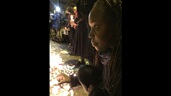 """""""I am a Muslim and starting to doubt my religion when these people who kill other human beings also call themselves Muslims,"""" 32-year-old Diabate said outside the Bataclan. """"But I won't ever lose my faith. I will fight for my beliefs and for my family."""""""