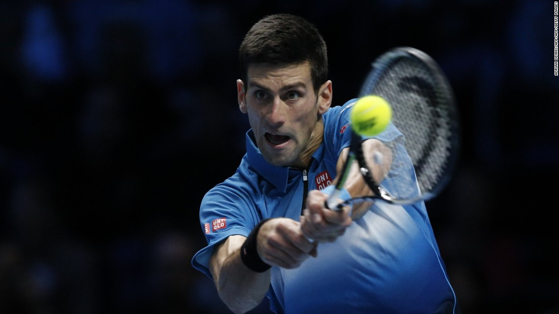 Novak Djokovic, the dominant world No. 1, began the tournament by thrashing Kei Nishikori on Sunday.