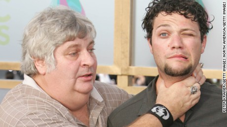 "Vincent Margera, left, and Bam Margera of ""Viva La Bam"" arrive at the 2005 MTV Video Music Awards."