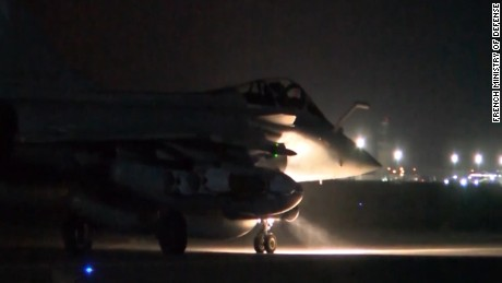 French airstrikes target ISIS sites in Syria