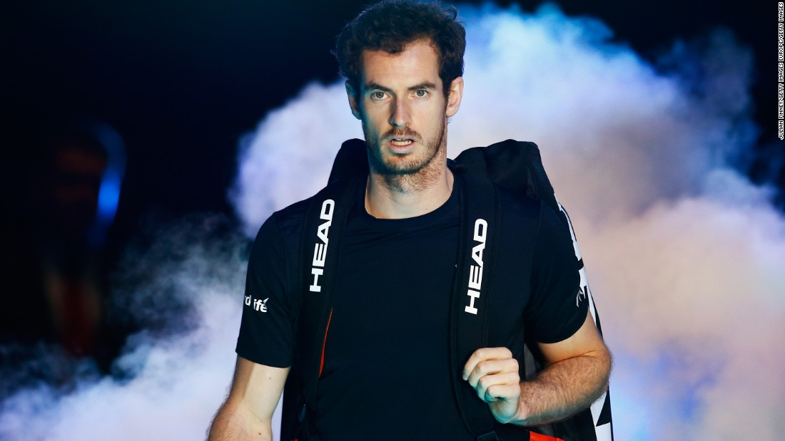 Andy Murray made his entrance at the World Tour Finals on Monday and took on David Ferrer.