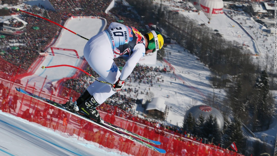 Winning the prestigious Kitzbuhel downhill in 2013, in front of an estimated crowd of 60,000 people, is one of Paris' career highlights.