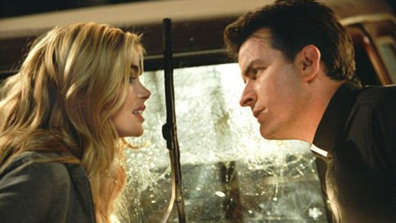 """Sheen occasionally popped up in movies in the 2000s, though not of the level of his '80s work. Among them were """"Scary Movie 3,"""" seen here with Denise Richards, """"Scary Movie 4"""" and """"Scary Movie 5."""""""