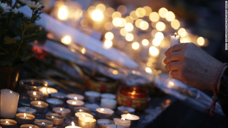 Relighting the candles after the Paris attacks