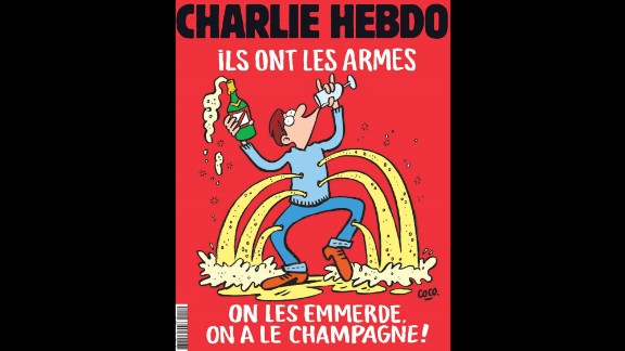 The latest cover of Charlie Hebdo.
