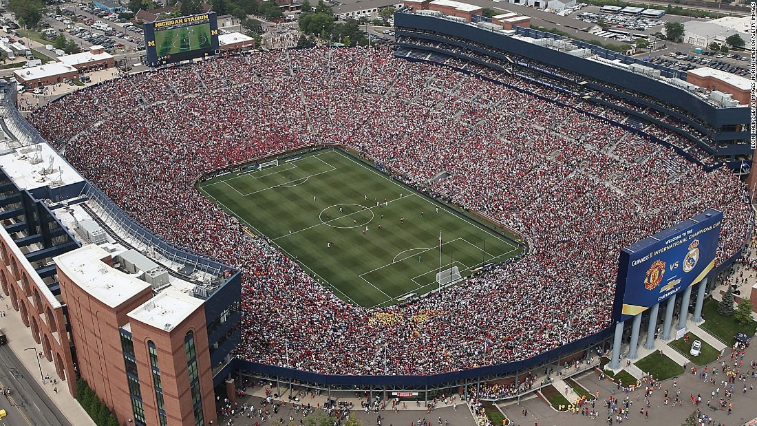 Pre-season tours abroad have become an increasingly popular among EPL teams. Manchester United faced Real Madrid in front of 109,318 fans at Michigan Stadium in 2014 -- the largest crowd to see a football game in the U.S., breaking the mark of 101,799 set at the Rose Bowl for the 1984 Olympic final.