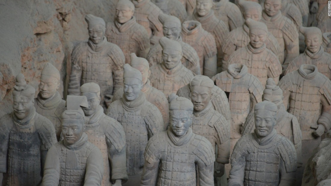 Excavation of the world's largest underground army started after local farmers discovered the first Terra-cotta warrior while digging a well in 1974 in Xi'an, China.