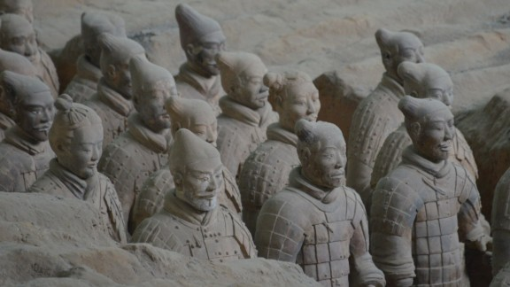 The army is only party of a garrison in the mausoleum of Qin Shi Huang, the ruler who first unified various Chinese states in 221 BC. Experts say the Terra-cotta Army showcases  the high level of craftsmanship in play 2,200 years ago.