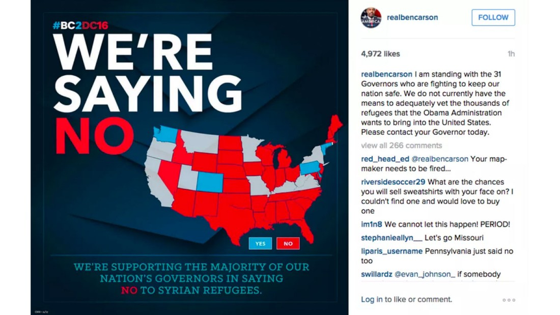 Ben Carson Map Of Us Ben Carson campaign redraws map of U.S.   CNN Politics