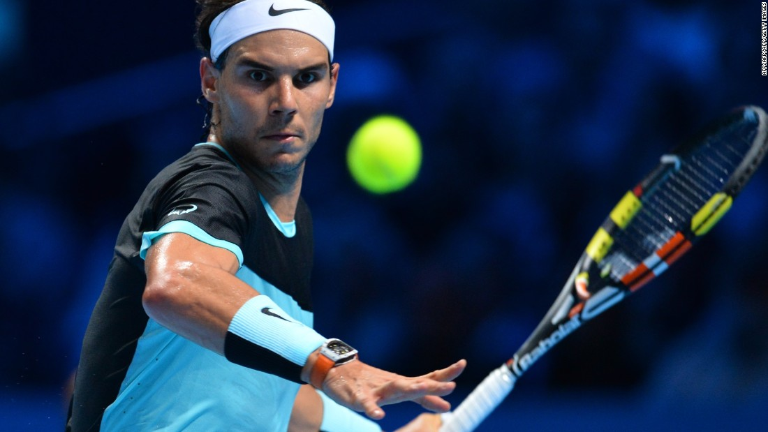Wednesday's standout match at the World Tour Finals pitted Rafael Nadal, right, against home favorite Andy Murray. Nadal continued his recent revival by beating the Scot 6-4 6-1.