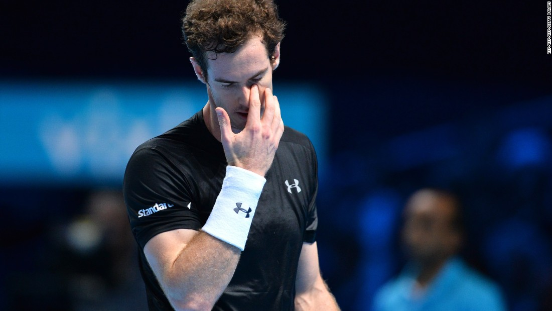 Murray was temporarily deprived of locking up the year-end No. 2 ranking. After a competitive first set that lasted about an hour, he wilted in the second.
