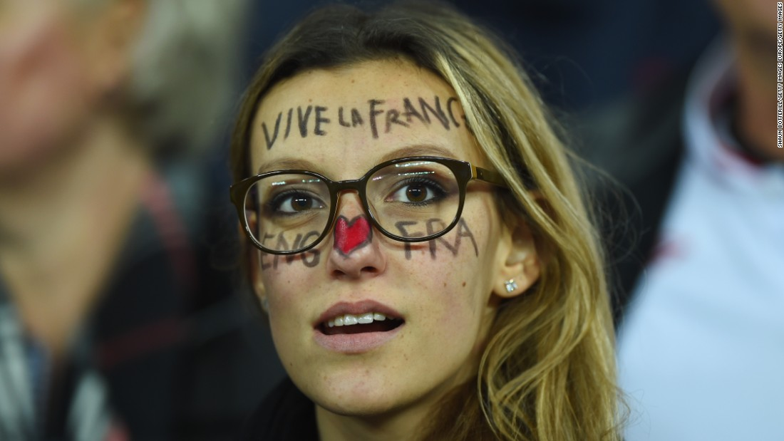 "English and French football fans united at Wembley Stadium just four days after the attacks on Paris. The friendly game, which England won 2-0, was preceded by a rendition of ""La Marseillaise"" which was sung by both home and away supporters."