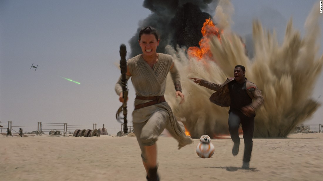 "Lee and Denton recalled how one of the BB-8s met its end in Abu Dhabi. Pulled along by a winch and traveling at high speed, the droid flipped and careered forward. By the time it came to a standstill ""there was shocked silence on the set. It was as if someone had been hurt,"" said Lee. ""The crew didn't know where to look."""