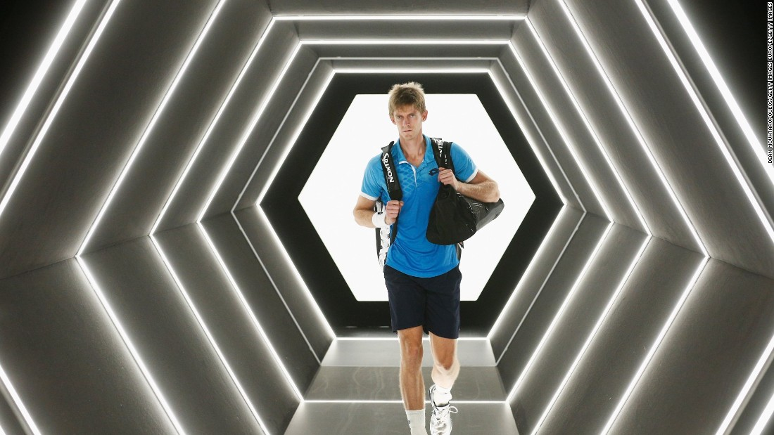 Here, Kevin makes a space-age entrance at November's Paris Masters against Rafael Nadal. Despite giving the Spaniard a run for his money, he lost in three sets.