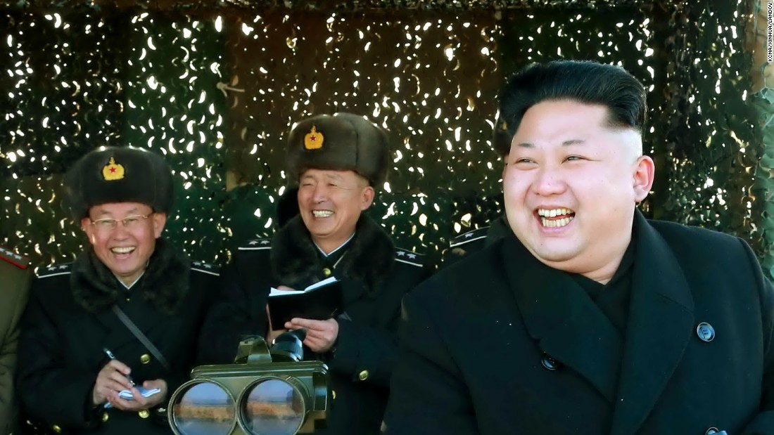 North Korean leader Kim Jong Un, right, inspects an army drill Saturday, January 31, in Pyongyang, North Korea.