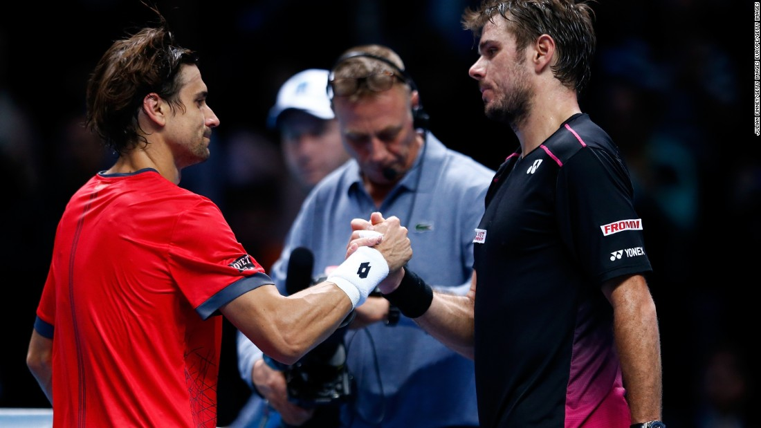 He officially progressed after Stan Wawrinka, right, beat David Ferrer 7-5 6-2 later Wednesday. The winner of Wawrinka-Murray on Friday will join Nadal in the last four.