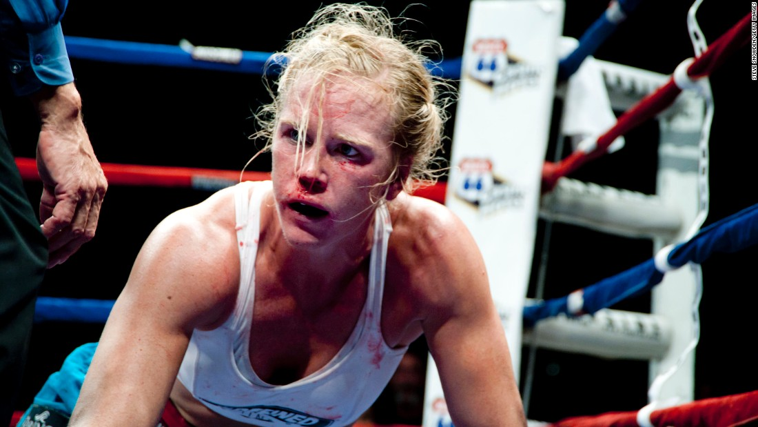 The low point of Holm's boxing career may have come when she was badly beaten by French boxer Anne Sophie Mathis during an IBA welterweight title fight in December 2011. It was one of only two losses she sustained in 38 professional bouts.