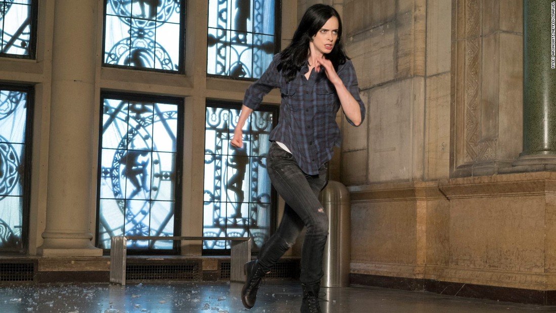 "Krysten Ritter stars as ""Jessica Jones"" in the Netflix series based on Marvel Comics' ""Alias,"" about a semi-retired superhero-turned-private eye."