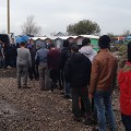 France Calais Jungle food queue