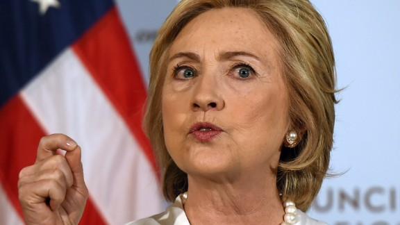 Democratic presidential hopeful Hillary Clinton delivers a national security address at the Council on Foreign Relations in New York, November 19, 2015 on her strategy for defeating the Islamic State group in the wake of the Paris attacks.