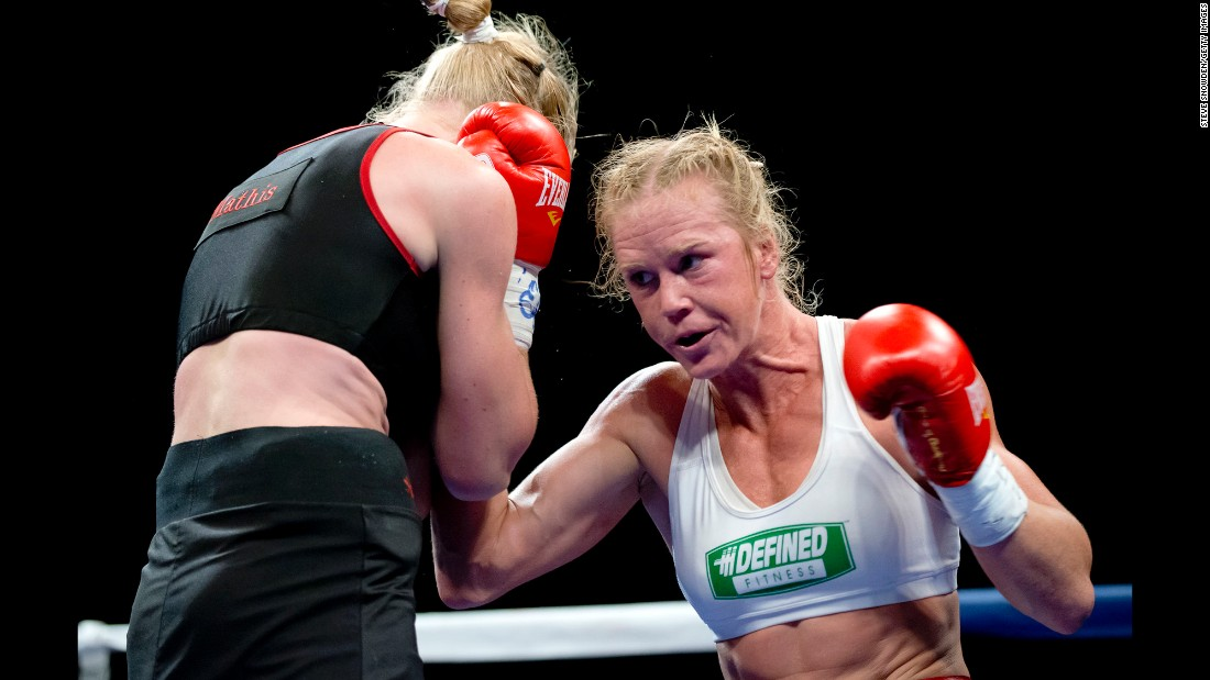 Six months later, Holm bounced back to beat Mathis in a rematch June 15, 2012, at the Route 66 Casino in Albuquerque.