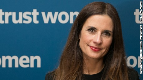 Livia Firth at the Trust Women conference, London.