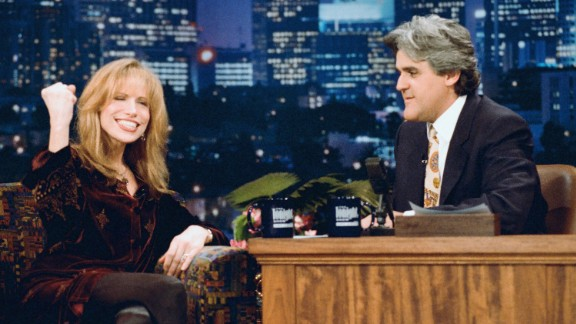 """Simon has been a favorite of the late night set. Here she appears on """"The Tonight Show"""" with host Jay Leno in 1995."""