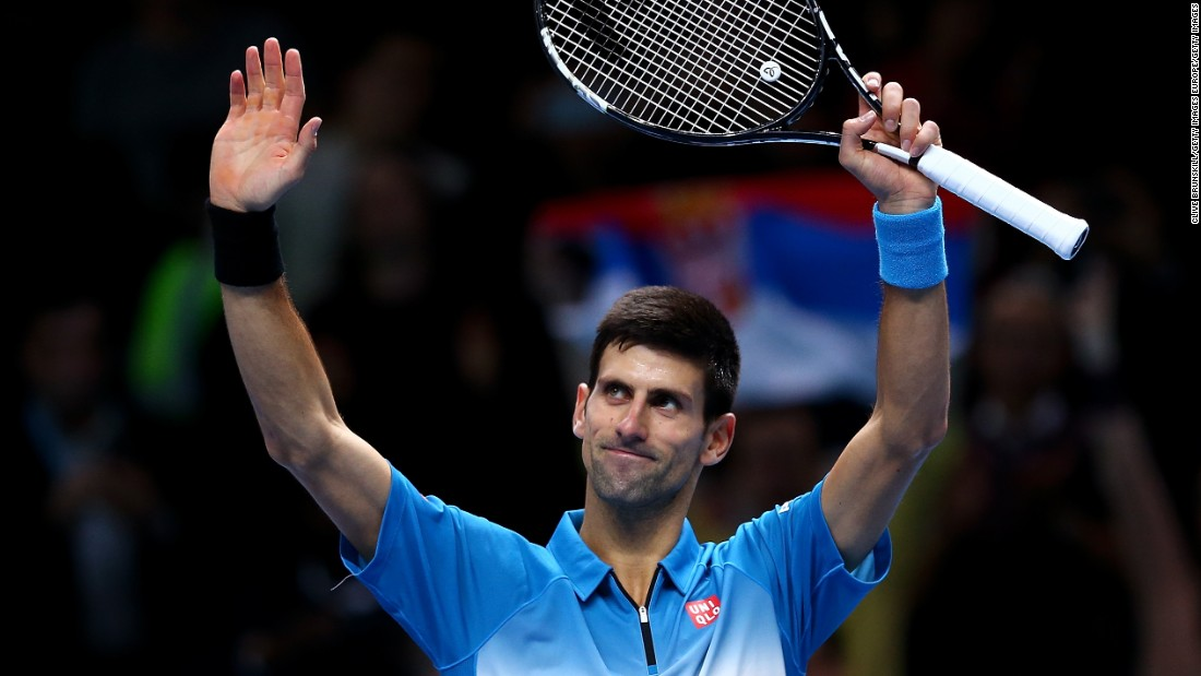 Novak Djokovic finished second behind Federer in Group Stan Smith after beating Tomas Berdych 6-3 7-5. Djokovic faces Rafael Nadal in the last four.