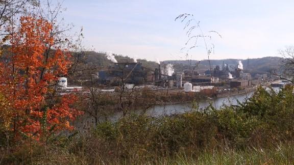 Former Carnegie steel mill in Braddock, Pennsylvania.