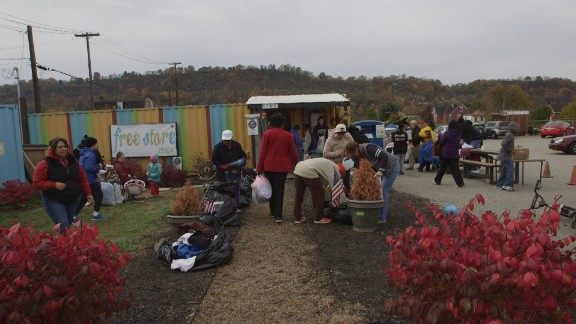 The Free Store in Braddock, where people can get food and clothes.