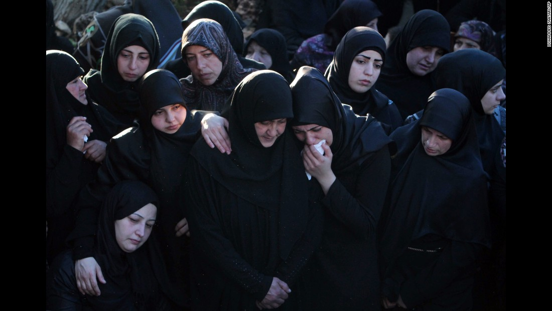 "Relatives and friends of Adel Termos mourn his death during his funeral in Tallousa, Lebanon, on Friday, November 13. Termos, 32, <a href=""http://www.cnn.com/2015/11/16/middleeast/lebanon-adel-termos-beirut-hero/"" target=""_blank"">is being hailed as a hero</a> after he tackled a suicide bomber approaching a mosque in Beirut. Tributes on social media speculated that Termos had saved many lives through his sacrifice."