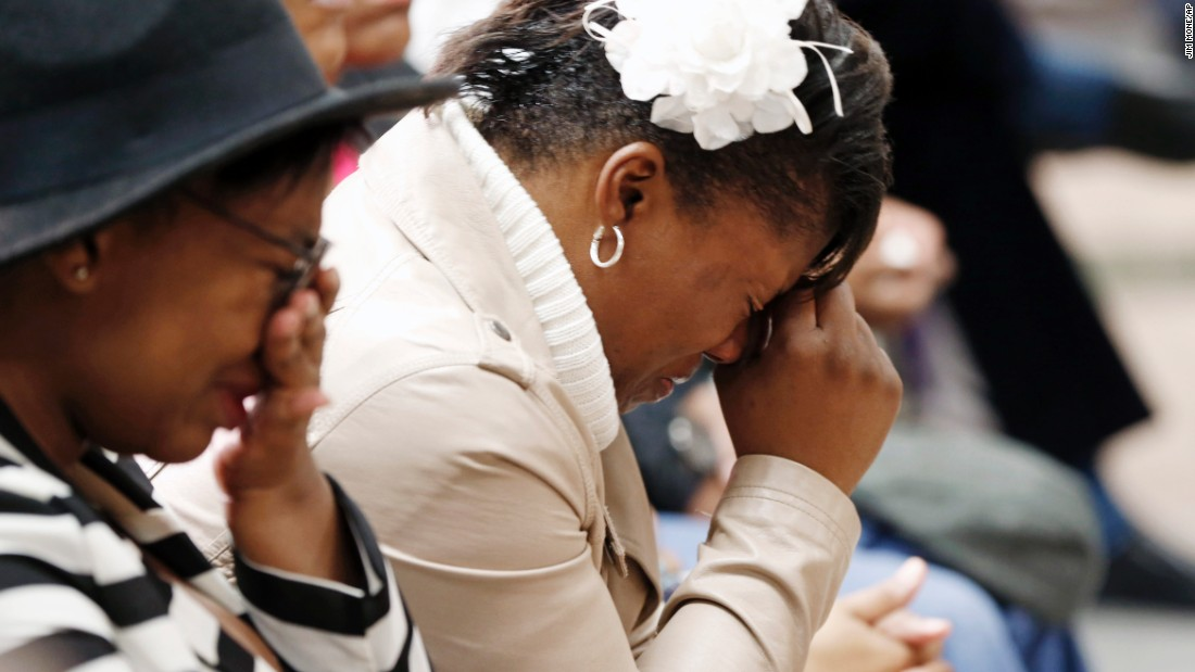 "Jamar Clark's sister, Danielle Burns, grieves as she and other family members gather during a news conference held by the Minneapolis Urban League on Wednesday, November 18. Clark, 24, was fatally shot in the head by police, a medical examiner said. He was unarmed. Two Minneapolis police officers <a href=""http://www.cnn.com/2015/11/18/us/minneapolis-jamar-clark-police-shooting/index.html"" target=""_blank"">are on administrative leave</a> as the case is being investigated."