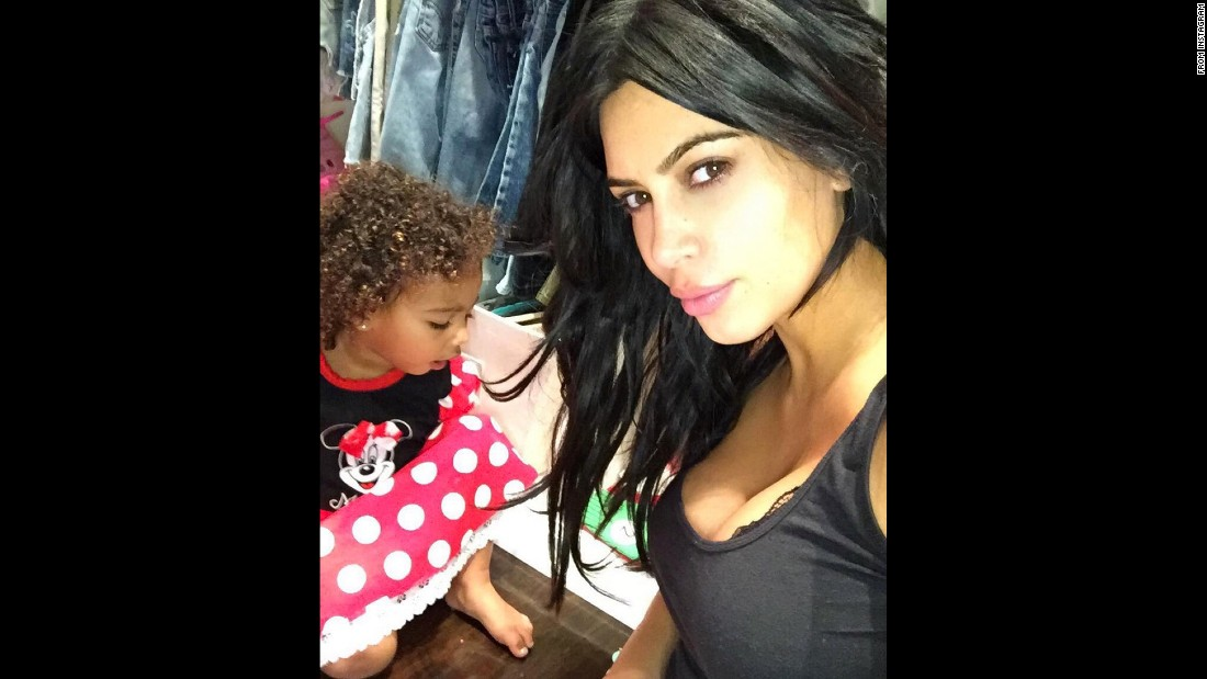 "Reality TV star Kim Kardashian takes a photo with her daughter, North, on Monday, September 28. <a href=""https://instagram.com/p/8LanpJuS7E/"" target=""_blank"">The Instagram post</a> came with a caption that simply said ""6am."""