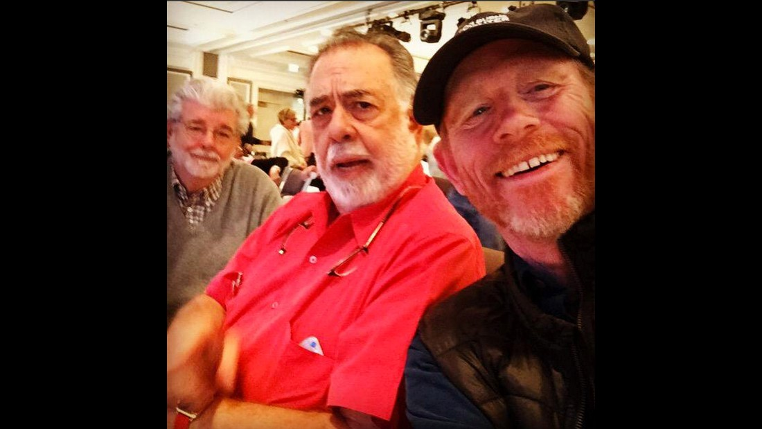 "Ron Howard <a href=""https://twitter.com/RealRonHoward/status/648184195945107456"" target=""_blank"">tweeted this selfie</a> with fellow film directors George Lucas, left, and Francis Ford Coppola on Sunday, September 27."