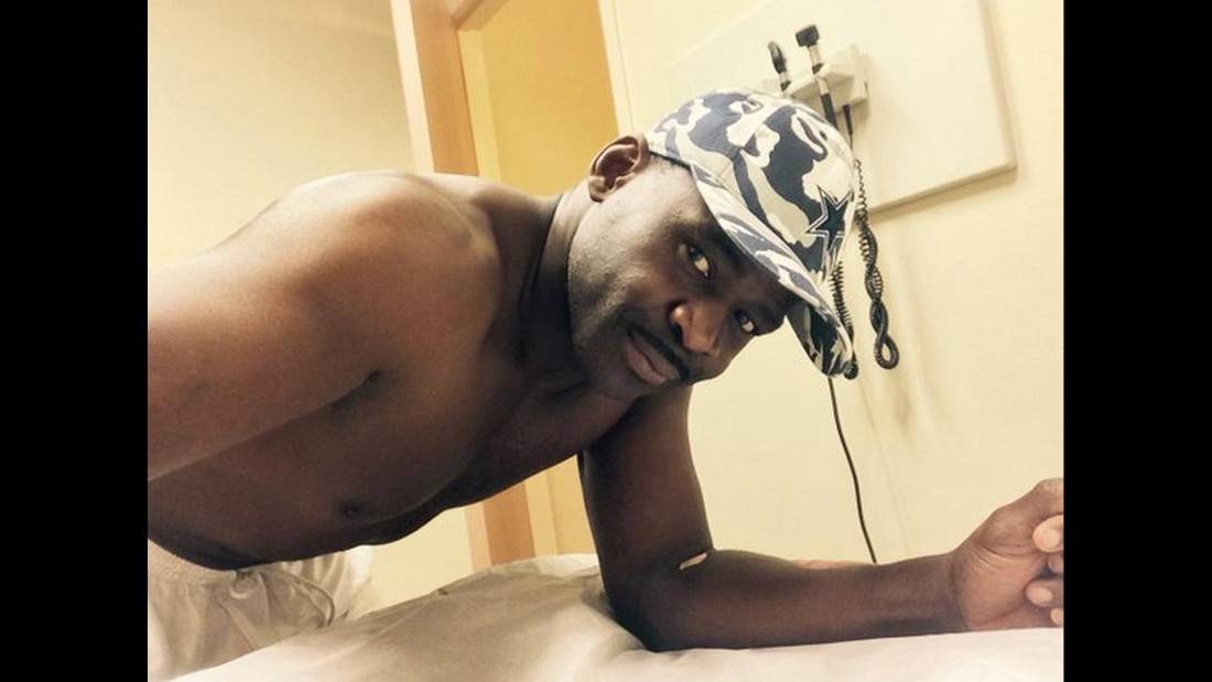 "Hall of Fame football player Michael Irvin tweeted a series of selfies during his annual checkup on Monday, August 31. Even his prostate exam. ""Dr told to drop them and bend this table,"" <a href=""https://twitter.com/michaelirvin88/status/638383501520211968"" target=""_blank"">Irvin said.</a> ""This is why I hate this every year. They got to come up w something better."""