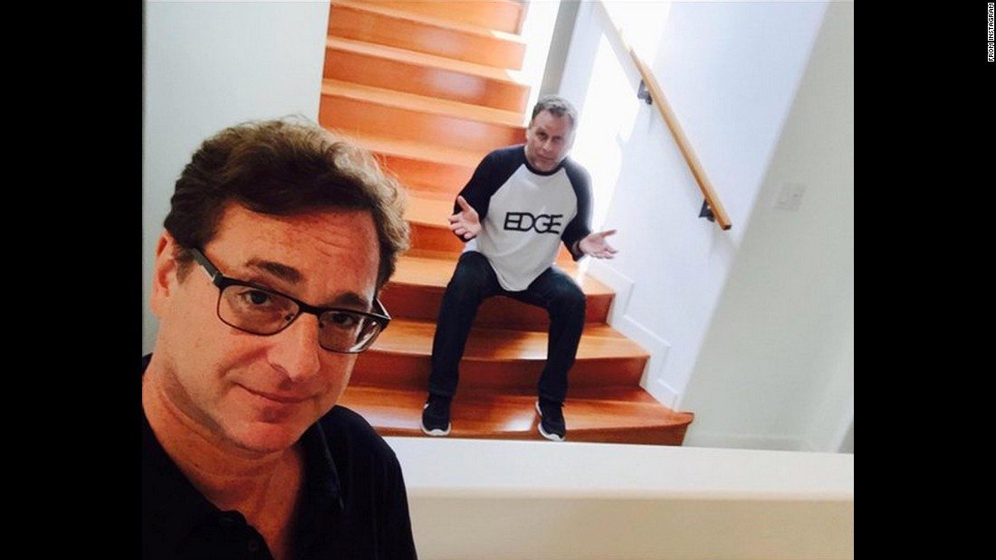 """I'm so happy @DaveCoulier is living under my stairs again,"" <a href=""https://twitter.com/bobsaget/status/628322852442402816"" target=""_blank"">tweeted comedian Bob Saget,</a> left, on Monday, August 3. The two once appeared together on the popular sitcom ""Full House."""