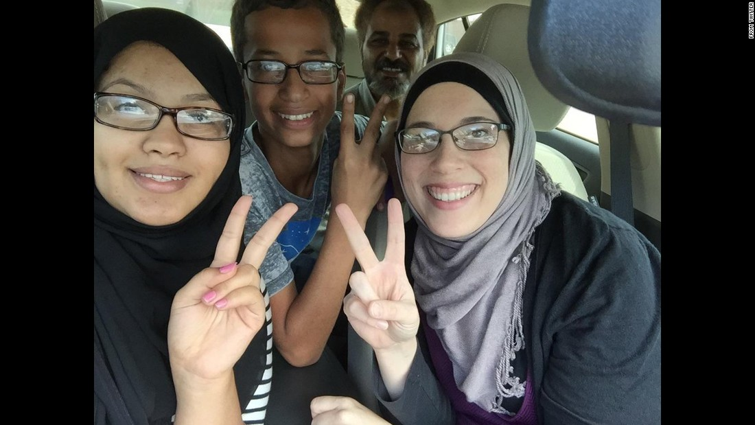 """Going to meet my lawyer,"" <a href=""https://twitter.com/IStandWithAhmed/status/644179809170509824"" target=""_blank"">tweeted Ahmed Mohamed,</a> second from left, on Wednesday, September 16. The 14-year-old <a href=""http://www.cnn.com/2015/09/17/us/texas-student-ahmed-muslim-clock-bomb/index.html"" target=""_blank"">was arrested at his school earlier in the week</a> after a teacher thought the homemade clock he built was a bomb. Once the story became public, he received thousands of tweets and Facebook posts of encouragement. President Barack Obama invited him to the White House and praised his love of science. Leaders at Reddit and Twitter offered him internships. And Facebook creator Mark Zuckerberg invited him to visit the company's headquarters. Ahmed, who is Muslim, told MSNBC he has been called bombmaker and a terrorist before ""just because of my race and my religion."""