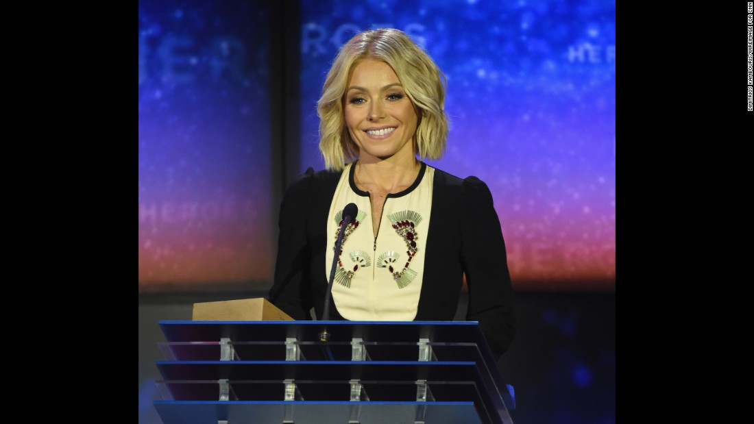 "Kelly Ripa -- Emmy-winning co-host of TV's ""LIve with Kelly and Michael"" -- was among the presenters at the 2015 CNN Heroes award ceremony."