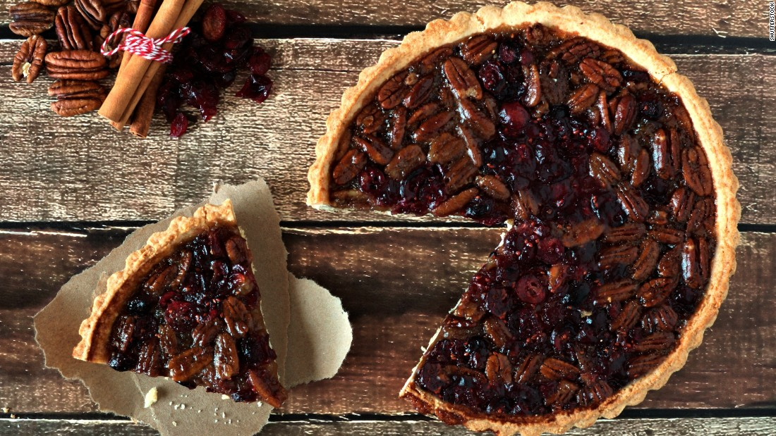 It's the worst (or best?) of the Thanksgiving pies: A slice of pecan adds a hefty 500 calories to your dinner. It will take a lot of jogging -- or power walking through Black Friday sales -- to burn that off. You can lighten the load by substituting rolled oats for half the pecans, if you can handle the break from tradition.